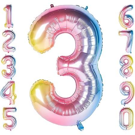 40 Zoll Golden Nummer Luftballon 0-9 Folien Zahlen ballon Riesenzahl Balloon Helium Zahlenballon Nummer 0 Ziffer 0 Heliumballons Zum Geburtstag Jahrestag Partybedarf Number 0