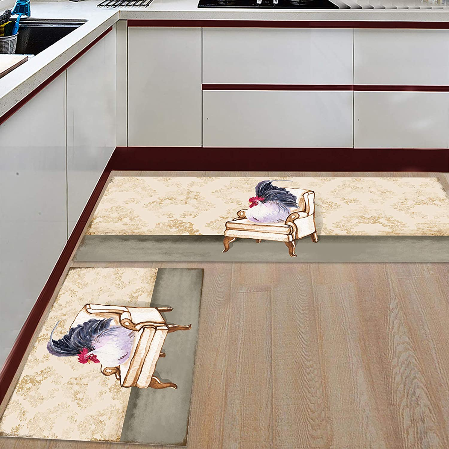 Prime Leader Kitchen Mat Fresno Mall and Rugs Set Seat on of Chicken Sofa Discount mail order 2