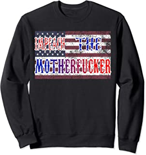Distressed American Flag Impeach the MF Rashida Tlaib Quote Sweatshirt