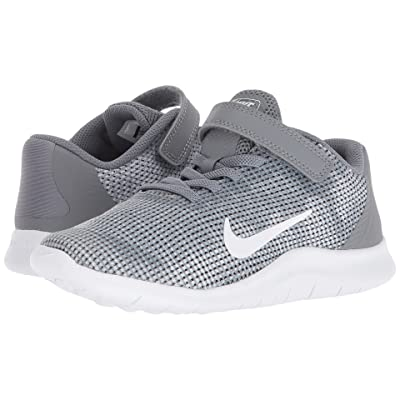 Nike Kids Flex Run 2018 (Little Kid) (Cool Grey/White) Boys Shoes