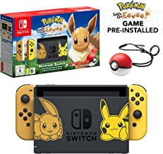 Nintendo Switch Let's Go Eevee Limited Edition Console with Joycon, Pre-Installed Pokémon: Let's Go Eevee + Pokeball Plus ...