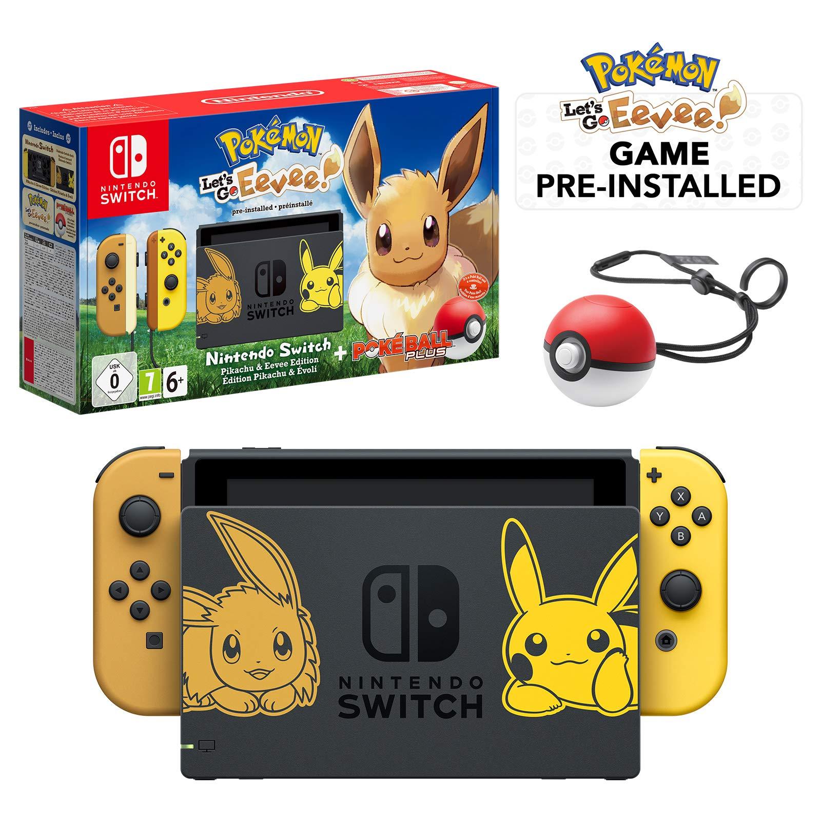 Nintendo Switch Lets Go Eevee Limited Edition Console with Joycon, Pre-Installed Pokémon: Lets Go Eevee + Pokeball Plus Controller [Importación inglesa]: Amazon.es: Videojuegos