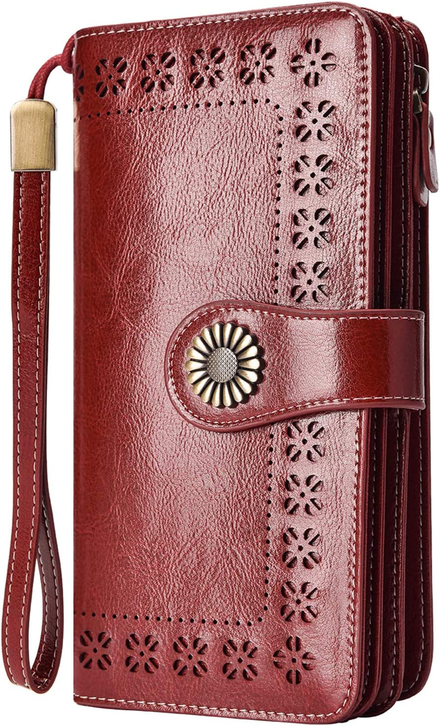 Charmore Ranking TOP13 Womens Wallet RFID Blocking Clutch Sale C Multi Leather Card