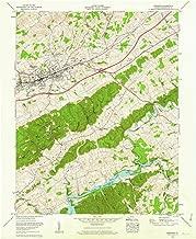 YellowMaps Abingdon VA topo map, 1:24000 Scale, 7.5 X 7.5 Minute, Historical, 1960, Updated 1962, 27 x 22 in