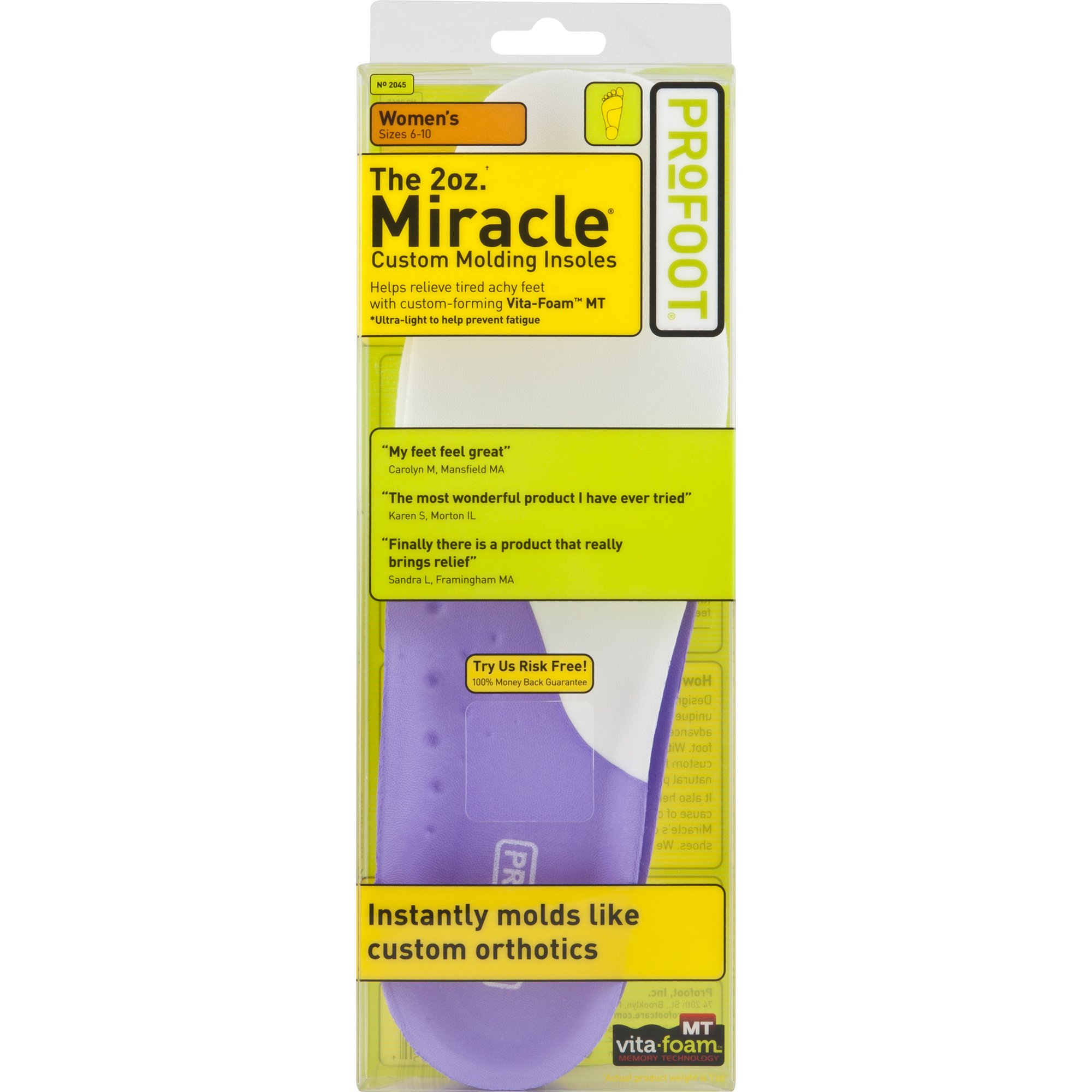 ProFoot Miracle Molding Insoles Womens
