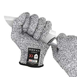 Cut Resistant gloves Fishing knife guard Food grade for Yard working,Oyster shucking,Meat cutting and wood carving,Cut lev...