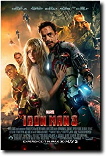 Mile High Media Iron Man 3 Movie Poster 24x36 Inch Wall Art Portrait Print