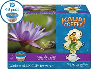 Kauai Coffee Single-serve Pods, Garden Isle Medium Roast – 100% Premium Arabica Coffee from Hawaii's Largest Coffee Grower, Compatible with Keurig K-Cup Brewers - 48 Count