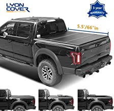 Lyon cover 5.5ft 66-67 inches Hard Tri Fold Truck pickup Bed for 2004-2014 Ford F-150 & 2006-2014 Lincoln Mark LT Bed Tonneau Cover | LED Lamp | 3 Years Warranty |