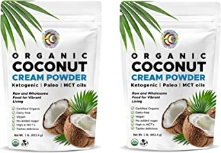 Organic Premium Coconut Milk Powder | Perfect Keto Powdered Coffee Creamer | High in MCT Oil | Vegan | No Added Sugar | Dehydrated | Gluten and Dairy Free - (2 Pack)