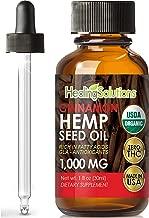 Cinnamon Hemp Oil Extract for Pain Relief, Stress, Anxiety, Sleep, Keto 1000mg