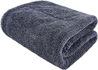 [SPLASH JAPAN]洗車 タオル 縁無し 傷防止 超吸水 楽々拭き取り マイクロファイバー 両面タイプ クロス Drying-Towel-DT-M (Grey) (75cmx45cm)