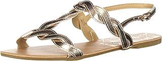 Qupid Women's T-Strap Sandal Flat