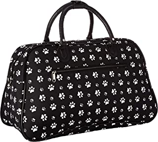 21-Inch Carry-On Shoulder Tote Duffel Bag, Black White Paws, One Size