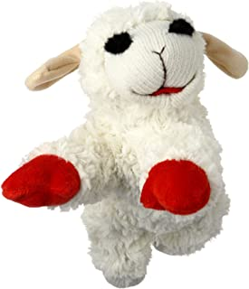 "Multipet Plush Dog Toy, Lambchop, 10"", White/Tan"