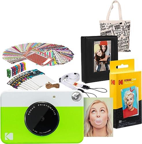 lowest Kodak PRINTOMATIC Instant Print Camera wholesale (Green) Gift Bundle online with Photo Album, AMZASK3RODGN sale