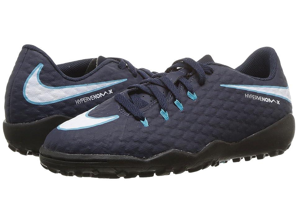 Nike Kids Hypervenom Phinish II AF Soccer (Little Kid/Big Kid) (Obsidian/White/Gamma Blue/Glacier Blue) Kids Shoes