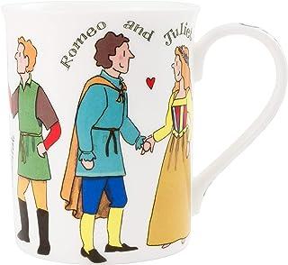 Alison Gardiner Famous Illustrator - William Shakespeare Characters Literature Fine Bone China Coffee Cup and Tea Mug - Pr...