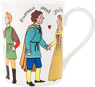 Alison Gardiner Famous Illustrator - William Shakespeare Characters Fine Bone China Coffee Cup and Tea Mug - Premium Quality and Detail