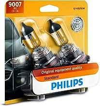 Philips 9007 Standard Halogen Replacement Headlight Bulb, 2 Pack