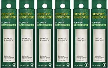 Desert Essence Herbal Blemish Touch Stick with Natural Extracts & Essential Oils - .31 Fl Ounce - Pack of 6 - Antiseptic Tea Tree Oil - Chamomile - Lavender - Palmarosa - Clear & Radiant Skin