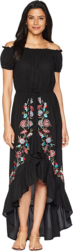 Sophia Off the Shoulder Beautifully Embroidered Dress