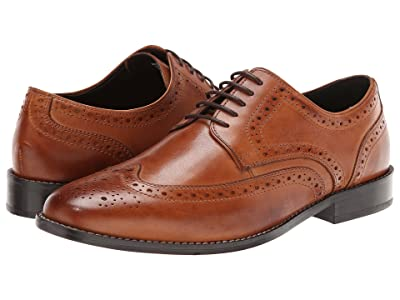Nunn Bush Nelson Wing Tip Dress Casual Oxford (Cognac) Men