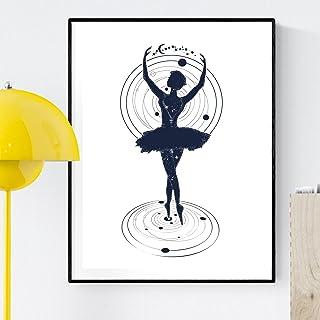 Nacnic Encadrement Dancer. Affiche avec Image Danse avec Les Cosmos. Affiche de Style Nordique. Taille A3