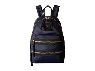 Marc Jacobs Nylon Biker Mini Backpack (Midnight Blue) Backpack Bags