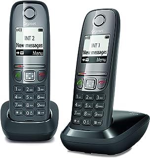 Gigaset AS475 Duo, Due Telefoni Cordless, Chiamate tra Interni/Interfono, Rubrica Personalizzabile, Trasferimento di Chiam...