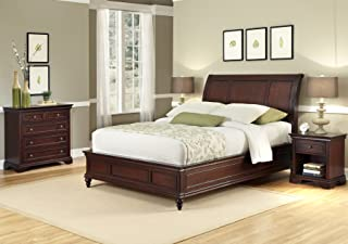 Lafayette Cherry King/California King Sleigh Headboard, Night Stand & Chest by Home Styles