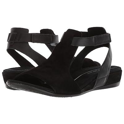 ECCO Touch 25 Ankle Sandal (Black/Black) Women