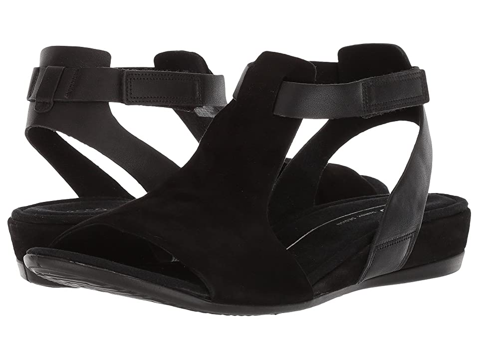 ECCO Touch 25 Ankle Sandal (Black/Black) Women