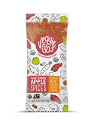 Veggie-Go's Organic Fruit and Veggie Strip with No Added Sugar, Sweet Potato, Apple, Spices, 0.42 Ou