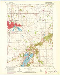 whitewater wisconsin topographic map