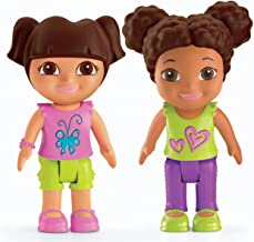 Fisher-Price Nickelodeon Dora the Explorer, Playtime Together Dora and Me Play Dates : Dora and Brown Hair Friend