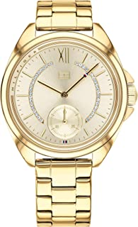 Tommy Hilfiger Women's Quartz Watch with Stainless-Steel Strap, Yellow, 16 (Model: 1781988)