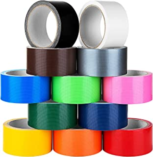 Multi Colored Duct Tape -12 Pack Variety Set - 10 Yards x 2 inch Rolls–Fun DIY Art Kit for Girls & Boys Kids Craft Duck Set – Rainbow Assorted Color