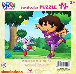 Dora the Explorer Lenticular 3D Puzzle, 24-Piece - Dora and Boots in the Forest