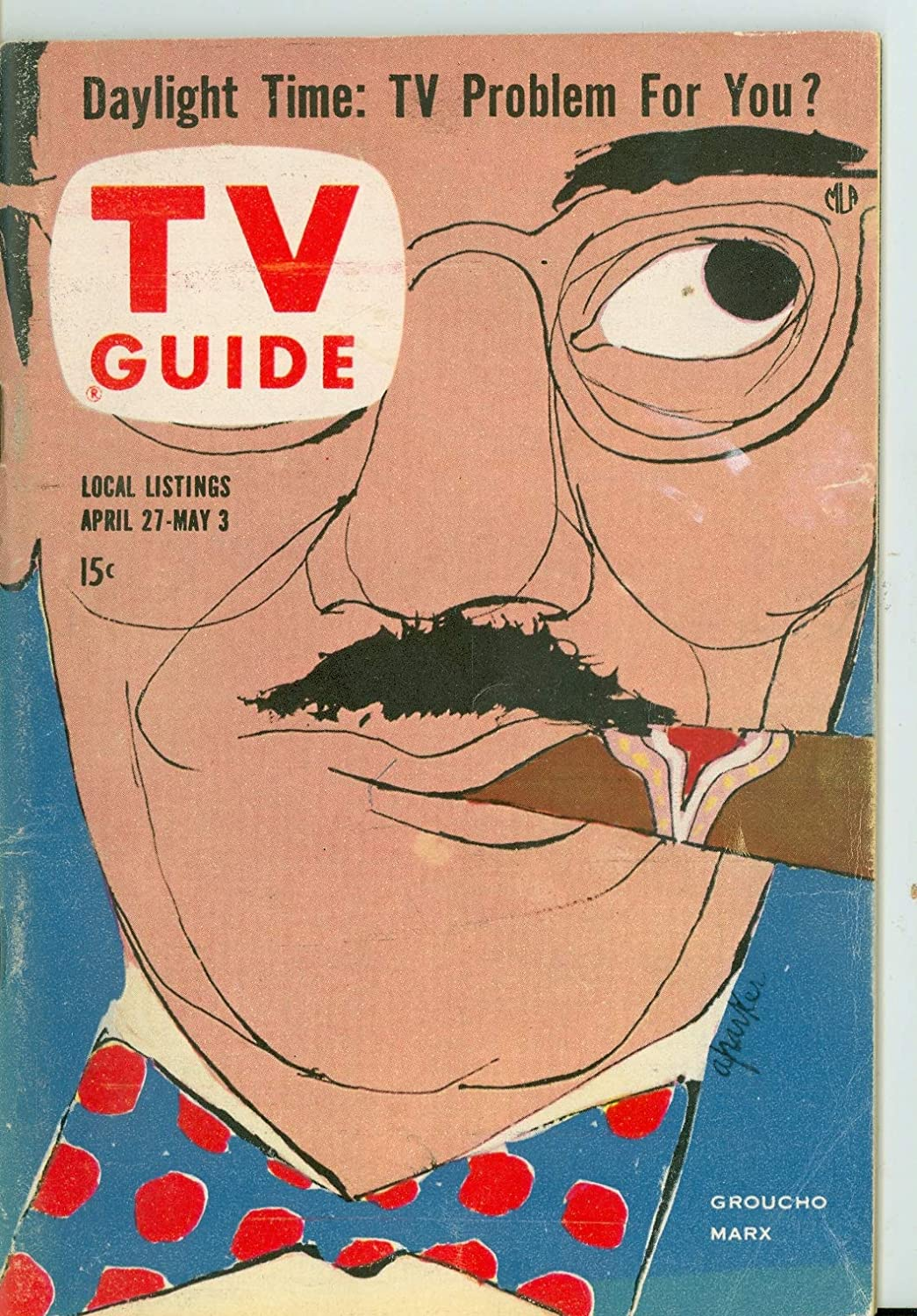 1957 TV Guide Apr 27 Ranking TOP1 Groucho - low-pricing City Classic Cover Marx Kansas