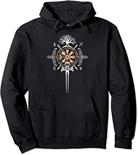 Not All Who Wonder Are Lost Viking Symbolism Pullover Hoodie