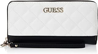 Guess Illy SLG Large Zip Around Wallet White Multi