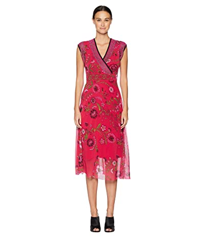 FUZZI Sleeveless Folk Flower Dress (Petunia) Women