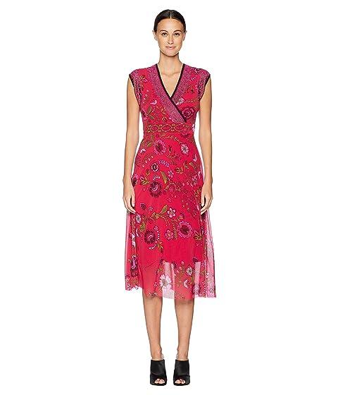 FUZZI Sleeveless Folk Flower Dress