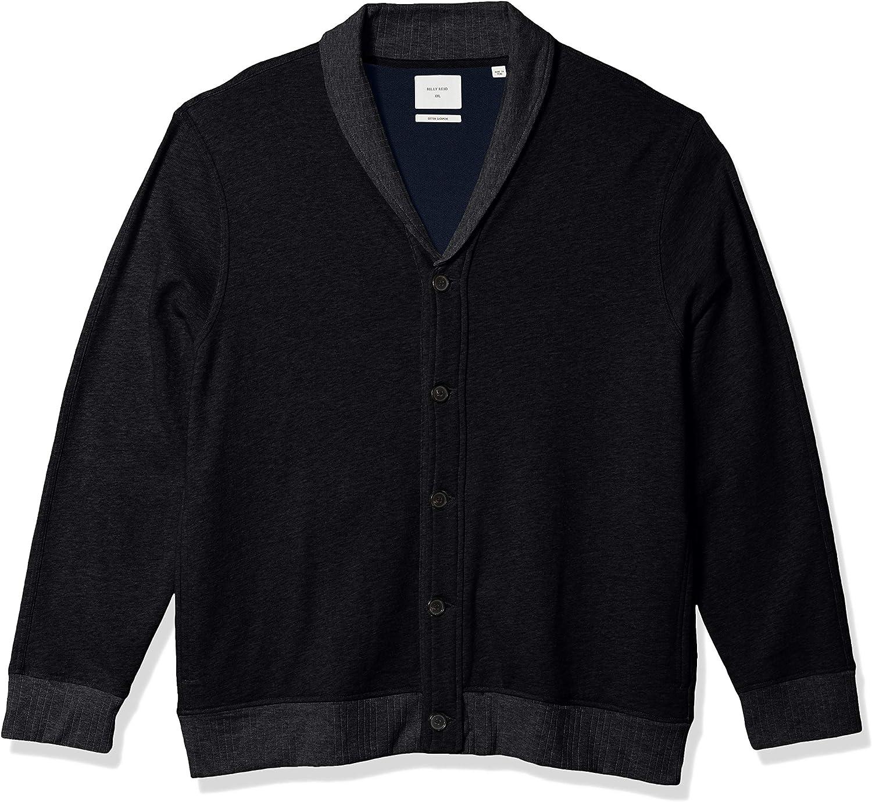 Billy Reid Men's Cotton Cashmere Cardigan Shawl Collar 正規品 Terry Swe 送料無料 一部地域を除く