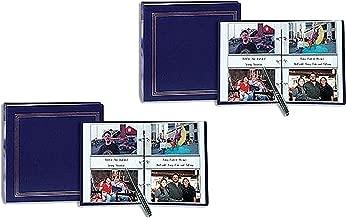 Set of 2 Pioneer 3-ring 2-up slip-in pocket NAVY-BLUE binder album for 400 photos