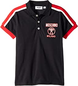 Moschino Kids - Short Sleeve Polo w/ Logo Detail on Front (Little Kids/Big Kids)