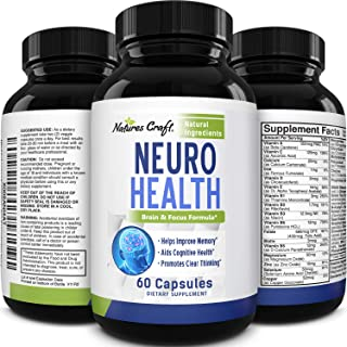 Nootropics Brain Supplement support - Memory Booster for Mind Focus Reduce Anxiety - DMAE Pills for concentration improve ...