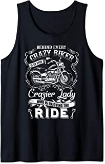 Motorcycle Gift Behind Every Crazy Biker Is a Crazier Lady Tank Top