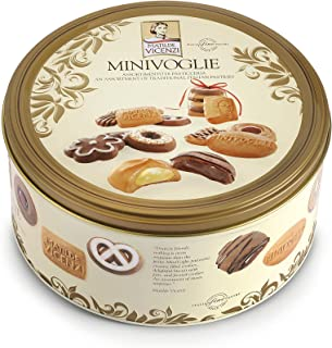 Matilde Vicenzi Minivoglie, Assortment of Patisseries, Pastries and Cookies, Made in Italy (500 gram Tin)
